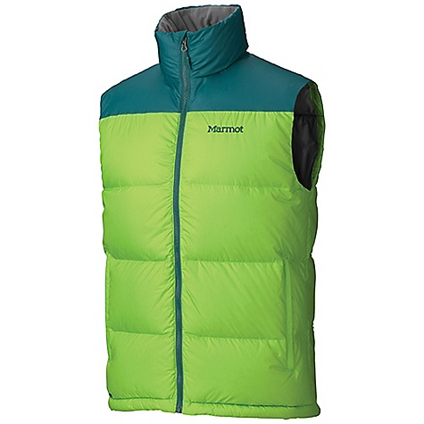 Free Shipping. Marmot Men's Guides Down Vest DECENT FEATURES of the Marmot Men's Guides Down Vest 700 Fill Power Down with Down Defender Zippered Handwarmer Pockets Wind Flap Behind Front Zipper DriClime Lined Chin Guard Elastic Draw Cord Hem The SPECS Weight: 15.2 oz / 430.9 g Fit: Regular Center Back Length: 27.5in. 100% Polyester Ripstop DWR 1.6 oz/yd - $149.95