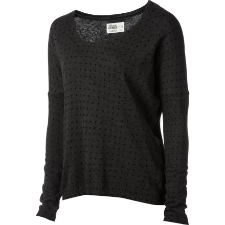 Skateboard How can you not love the Volcom Women's V.Co Loves Sweater' Its organic cotton fabric simply oozes eco-friendly, delicious vibes, and it looks and feels super-comfy when you pair with your jeans or casual skirt. - $21.98