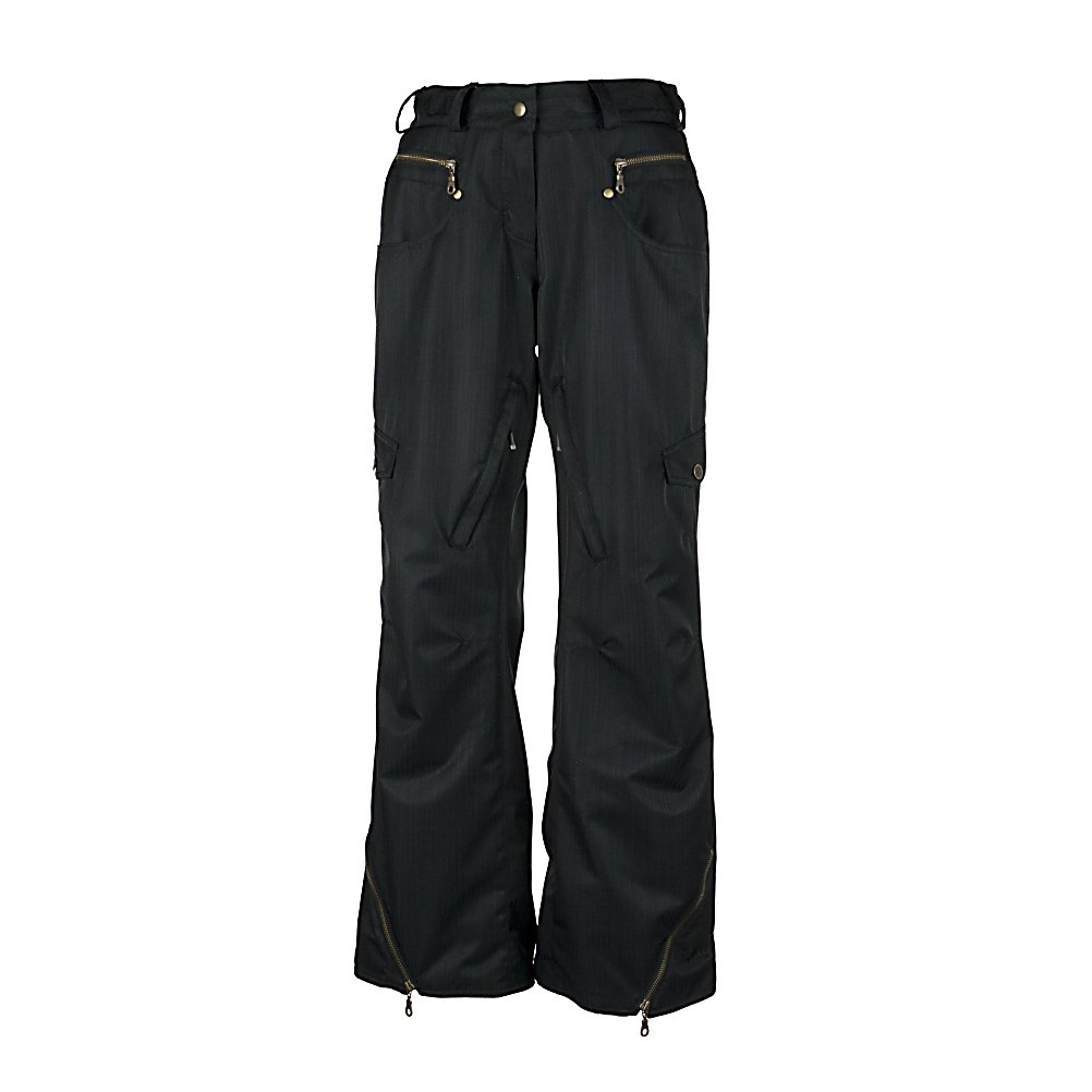 Ski Obermeyer Delia Womens Ski Pants - The Obermeyer Delia Ski Pant has denim style pockets and seaming that make this pant hip and fresh giving you a slender look to the leg. The sweet exposed zippers give this pant an edge above the rest. These ski pant have the urban look of coolness with a flattering fit, comfort style, performance and durability - you will have stepped into your favorite ski pants ever! Obermeyer delivers such quality and fashion to its wearer, you will look so fine on the slopes and the after ski experience as well. Features: Belt loops, Zip hem gussets, Zip front, jean pockets, zip front fly, Metal teeth zippers, Cargo pockets, Powder skirt snaps to pant. Exterior Material: Nylon, HydroBlock, Softshell: No, Insulation Weight: 40g, Taped Seams: Fully Taped, Waterproof Rating: 5,000mm, Breathability Rating: 5,000g, Full Zip Sides: No, Thigh Zip Venting: Yes, Suspenders: None, Articulated Knee: Yes, Low Rise: Yes, Warranty: Lifetime, Race: No, Waterproof: Water Resistant (< 5,000mm), Breathability: Low Breathability (< 5,000g), Use: Ski, Type: Shell, Pant Fit: Slim, Lining Material: ComforMax, Waist: Beltloops, Pockets: 3-4, Model Year: 2012, Product ID: 234029, Model Number: 15116 09 4, GTIN: 0700599541501 - $69.91