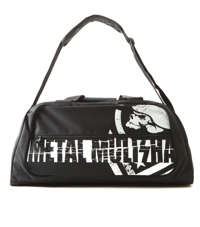 Motorsports Metal Mulisha Mens duffle bag. Large logo screen on front; zip pockets on front and back; zip close main compartment features small interior zip pocket; removable adjustable shoulder strap. 10'' x 21'' x 10.5'' - $29.99