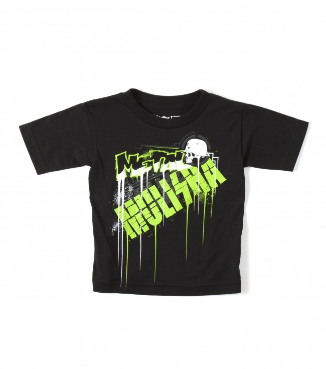 Motorsports Suit him up in style with the Metal Mulisha toddler's Drip t-shirt.100% CottonS/S t-shirtFront screen print - $7.99