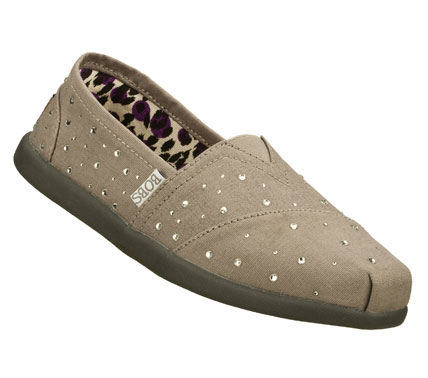 Make wishes come true in the SKECHERS Bobs World - Falling Star shoe.  Soft woven canvas fabric upper in a slip on casual alpargata flat with stitching and sequin detail. - $38.00