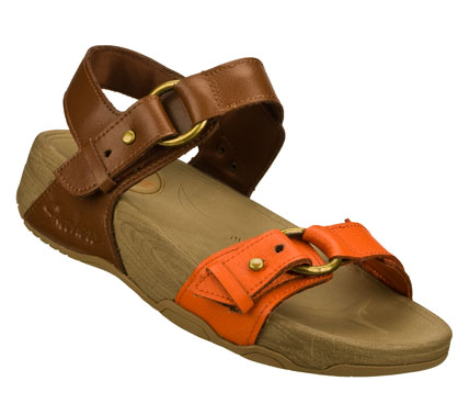 Surf Go nuts for smooth style and long-lasting comfort in the SKECHERS Relaxed Fit: Tone-ups - Granola Baby sandal.  Smooth leather upper in a strappy casual comfort sandal with stitching accents and adjustable straps. - $60.00
