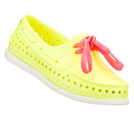 She'll want to live in the SKECHERS Cali Gear Finders Keepers shoe.  Soft flexible sculpted Nano Lite plastic foam upper in a slip on casual boat shoe with sculpted detail and cooling perforations. - $18.00