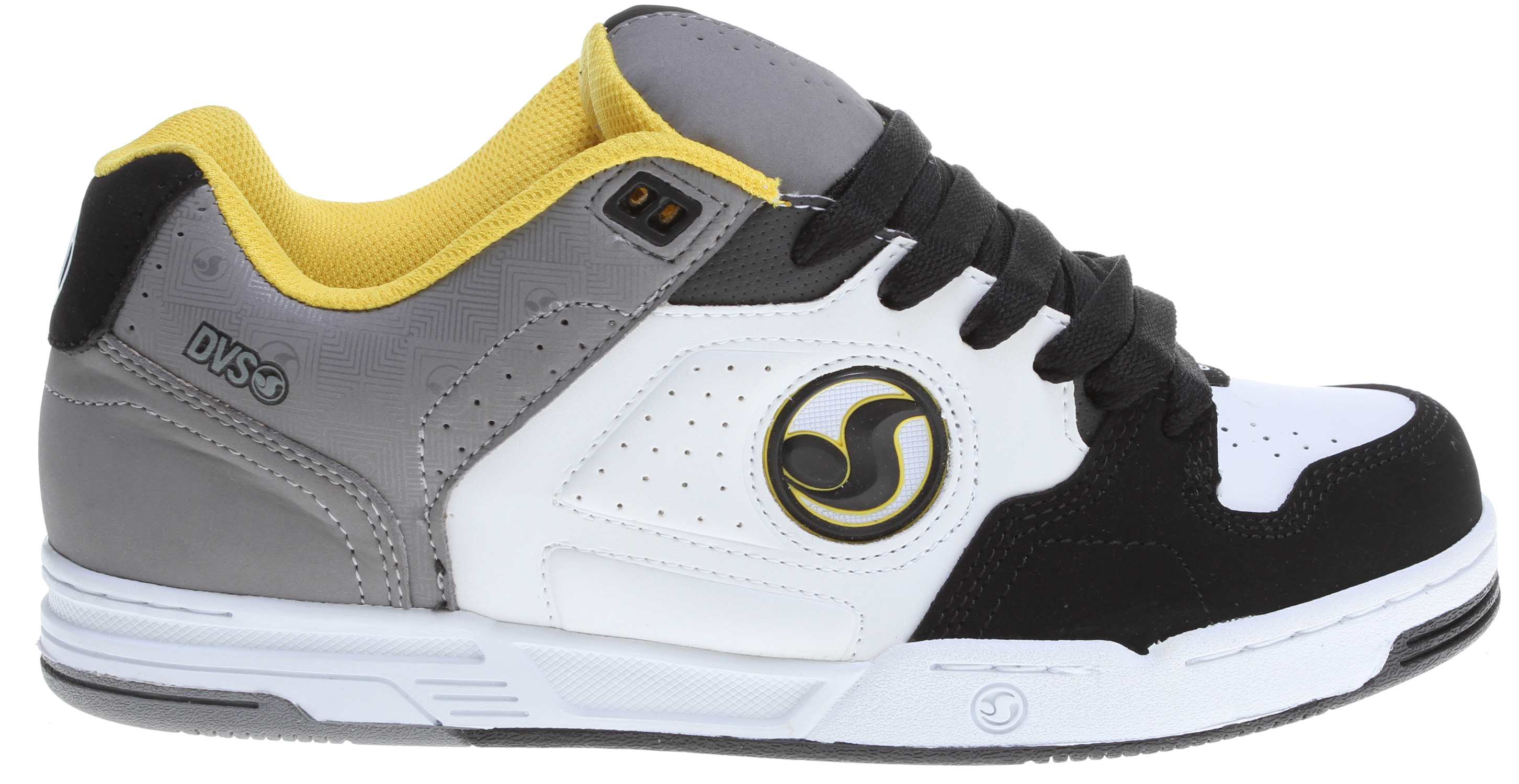 Skateboard Key Features of the DVS Havoc Skate Shoes: Brian Deegan signature series Leather/nubuck/suede upper material Ventilated mesh panels for breathability High density collar & tongue padding Direct injected TPR quarter logo detail High impact insole & midsole unit Durable cupsole construction - $53.95