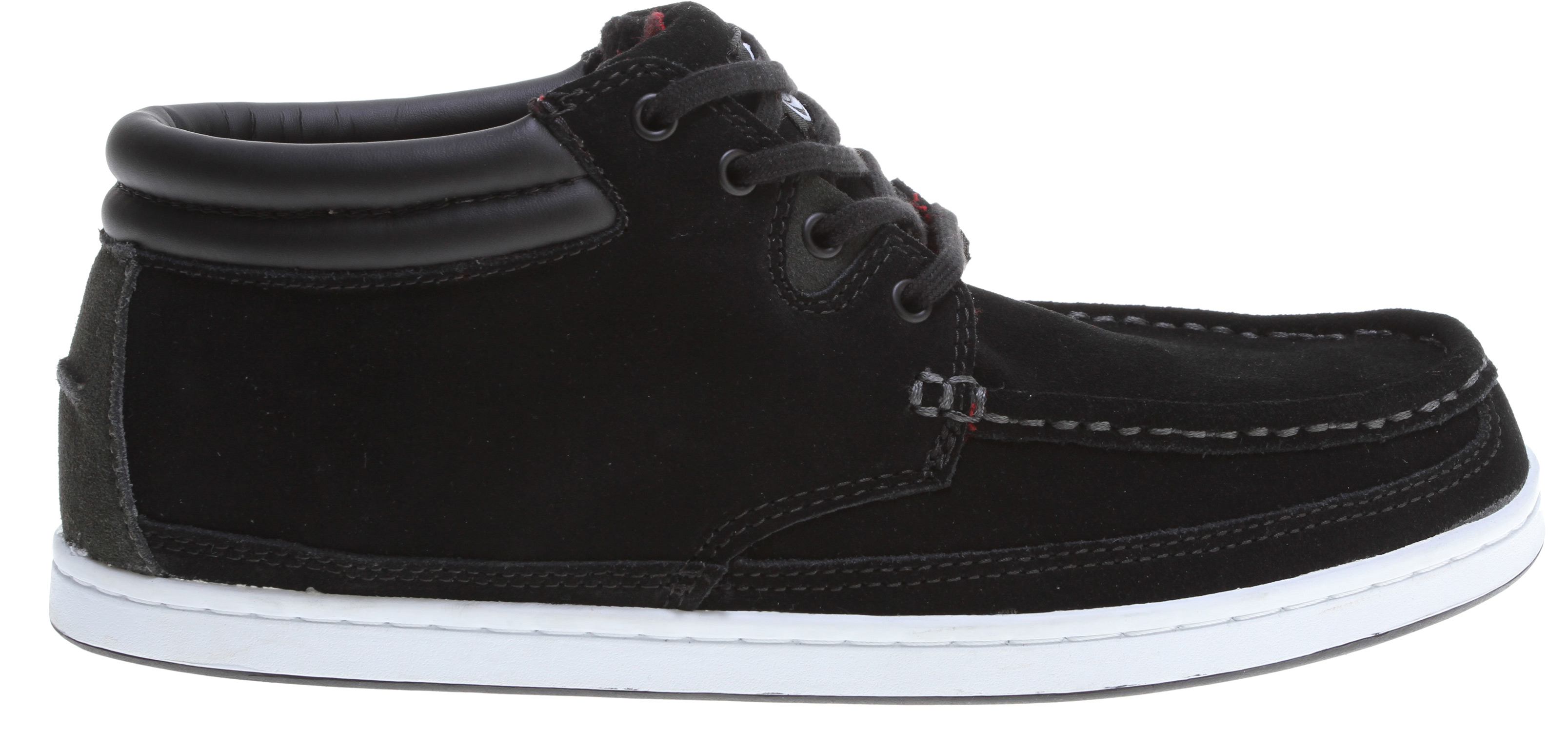 Hunting Key Features of the DVS Hunt Skate Shoes: Leather/Nubuck/Suede Upper Material Unique Toe Stitch Details Mid-Top Design For Extra Comfort Comfortable Collar Padding Non-Slip Herringbone Tread Pattern Flex Feel Technology - $44.95