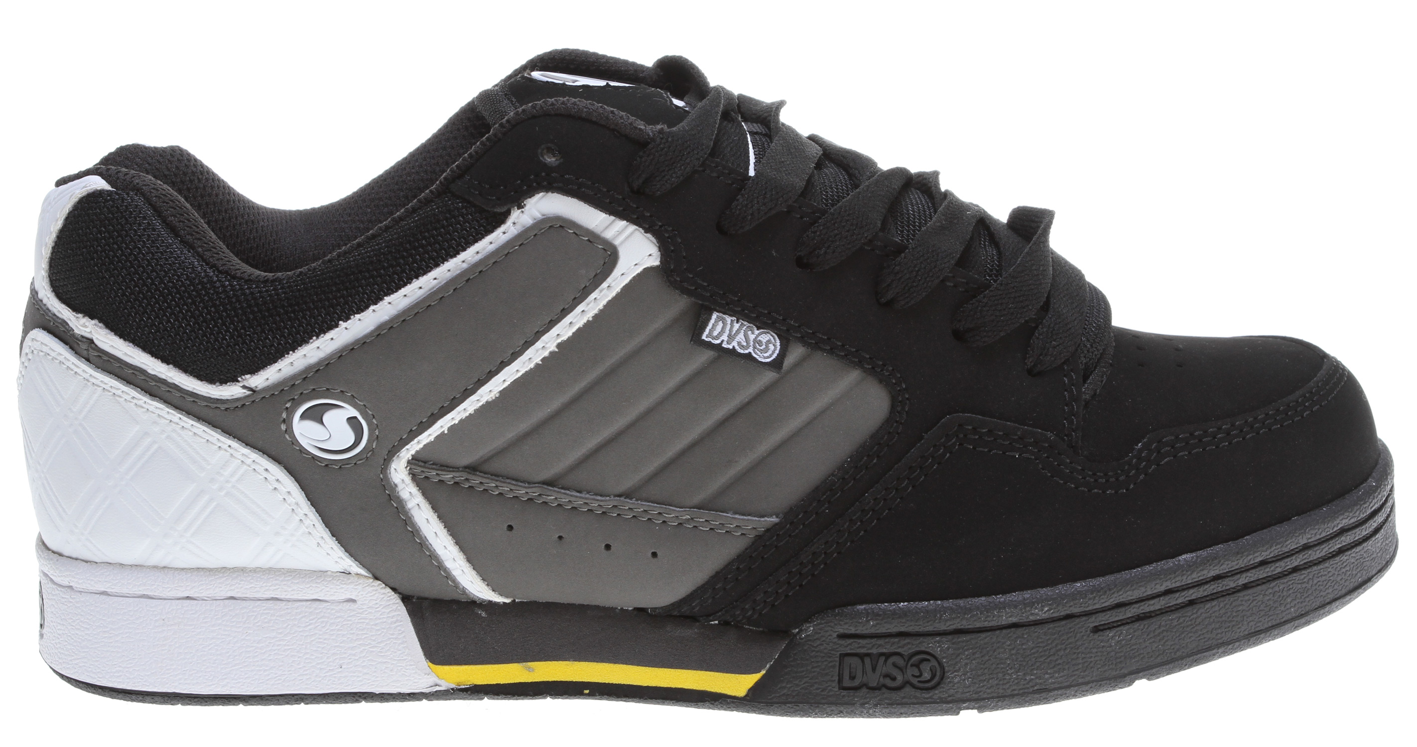 "Skateboard Key Features of the DVS Transom Skate Shoes: Leather/Nubuck Upper Material Tpr Logo Branding ""Secret Stash"" Tongue Pocket High Density Collar & Tongue Padding For Support High Impact Insole & Midsole Unit Lightweight Eva/Rubber Cupsole - $49.95"