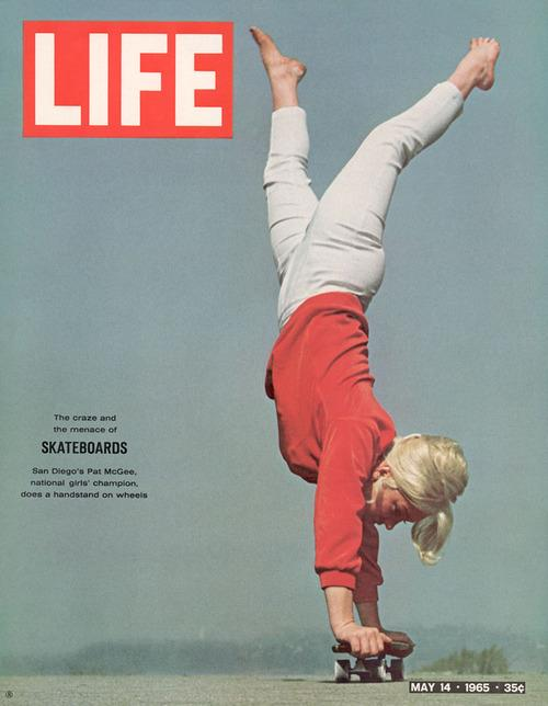 Skateboard The Craze and the Menace.   Patti Mcgee graces the cover of Life Magazine, 1965.