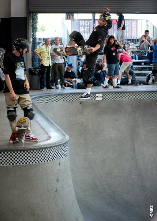 Skateboard Pro division 4th Place - Omar Hassan - See more at http://vans.com/poolparty - Photo: MRZ