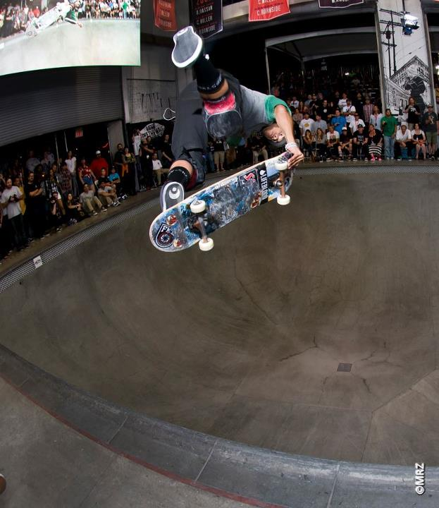 Skateboard Pro division 6th Place - Josh Rodriguez - See more at http://vans.com/poolparty - Photo: MRZ