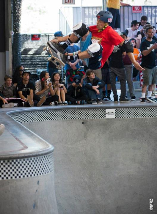 Skateboard Masters division 7th Place - Nicky Guerrero - See more at http://vans.com/poolparty - Photo: MRZ