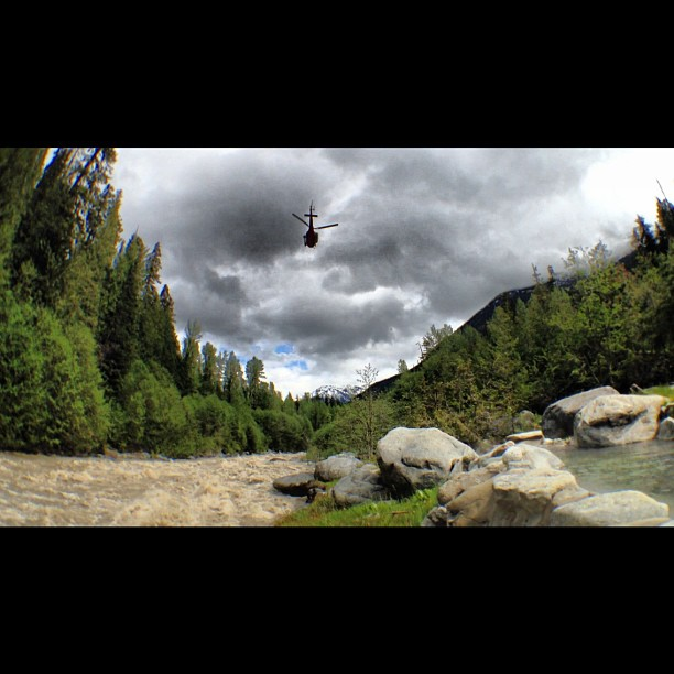 Entertainment Hotsprings, helicopters and a few Hitcases on a epic stag. #hitcase #epic #bc