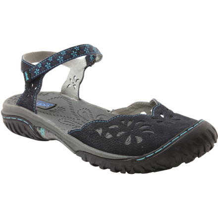 Surf If you've never heard the phrase 'outdoor fashion sandal,' you're in for a treat. The sweet and sport-ready Jambu Women's Ocean Sandal boasts the looks of a pretty Mary Jane and high-tech capability to keep your foot dry and happy on trail or off. A floral-design, grooved insole dries quickly and resists odor for a fresh look and feel. Contoured memory foam serves up support and all-day comfort, while an eco-friendly partially recycled rubber sole bites into slick or wet terrain for four-wheel-drive performance from this cute and sporty vehicle. - $79.16