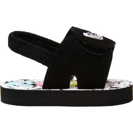 Surf Give your tiny surfer-girl some beach-loving style and all-day comfort with the Roxy Little Girls' Baby Tip Toe II Shoe. With easy on-off hook-and-loop closure and a soft, elastic heel strap, she can be ready to go in a flash. And a durable, dual-density EVA footbed gives her tiny foot plenty of support and a splash of style. A bright pink logo on the outsole shows some flair when she's chilling in the sand. - $11.20