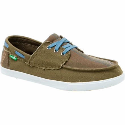 Skateboard Sanuk stitched boat-style canvas uppers with classic sneaker soles to create the Boys' Scurvy Shoe, which is all your boy needs to scramble around the park (well, he contends that he needs a puppy too). Set him loose in these comfy, playfully-styled shoes and let him busy himself with a longboard, bike, or tree-climbing sesh. - $27.27