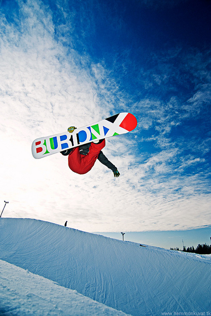 Snowboard Frontside Air
