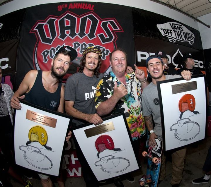 Skateboard Rune Glifberg, Bucky Lasek, Steve Van Doren & Pedro Barros - See more at http://vans.com/poolparty - Photo: MRZ