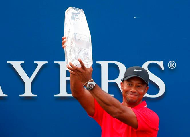 Golf Congratulations to Tiger Woods on winning the  THE PLAYERS Championship for his fourth title of 2013! Tied with Sergio Garcia with two holes to play, Woods won by finding land on the last two holes for par to close with a 2-under 70.