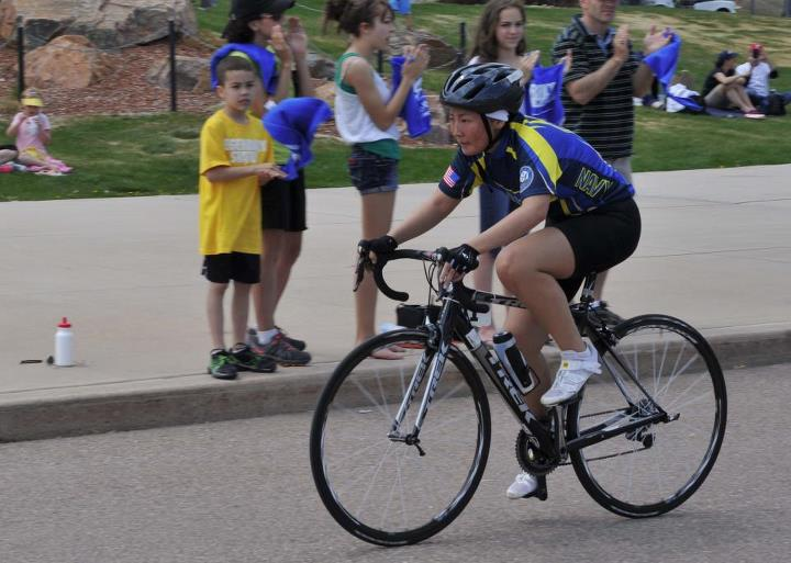 Fitness COLORADO SPRINGS, Colo. – Team Navy member, Chief Navy Career Counselor Ching Dressel, assigned to Commander, U.S. Pacific Fleet, particpates in the Bicycle Women, Open category in the 2013 Warrior Games. The Warrior Games includes competitions in archery