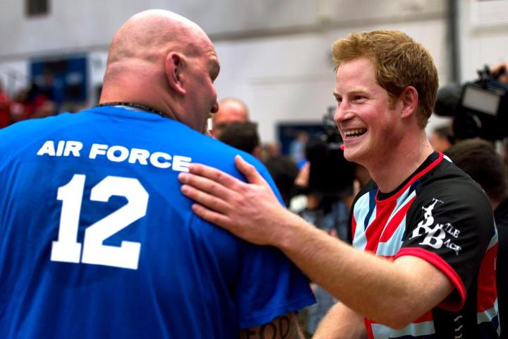 Guns and Military Britain's Prince Harry played in an exhibition volleyball match between U.S. and U.K. wounded warrior volleyball teams during the Warrior Games in Colorado Springs, Colo., May 11. More than 200 wounded, ill and injured service members and veterans from th