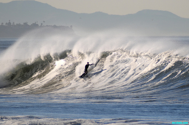 Surf palos verdes and catalina island background