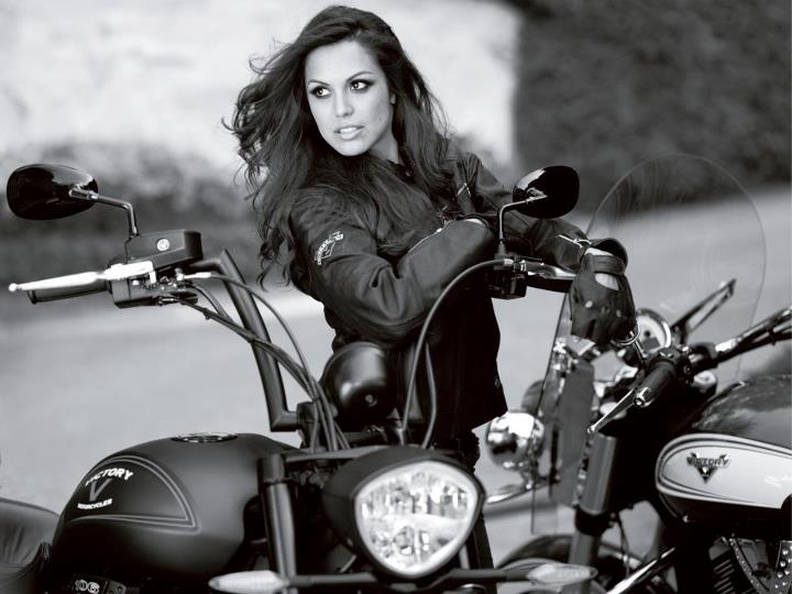 Auto and Cycle Congratulations to our 2013 Victory Motorcycles brochure cover model, Raquel Pomplun, on her honors last week.