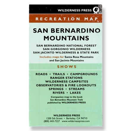 Camp and Hike Printed on waterproof paper, this map is your guide to exploring the San Bernardino Mountains. - $9.95