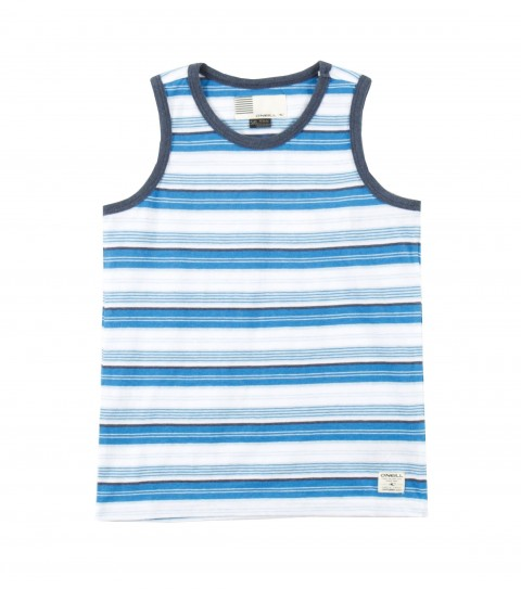 Surf O'Neill Kids Exposure Tank.  100% Cotton jersey.  Yarn dye stripe tank with garment wash. Standard fit with logo labels. - $14.99