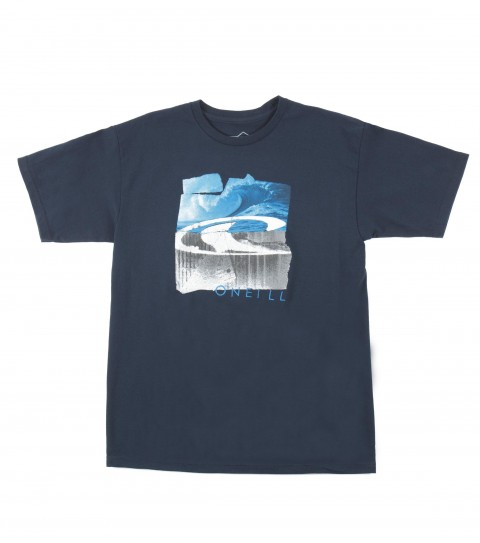 Surf O'Neill Wrecked Tee.  100% Cotton.  20 singles classic fit tee with softhand screenprint. - $15.99
