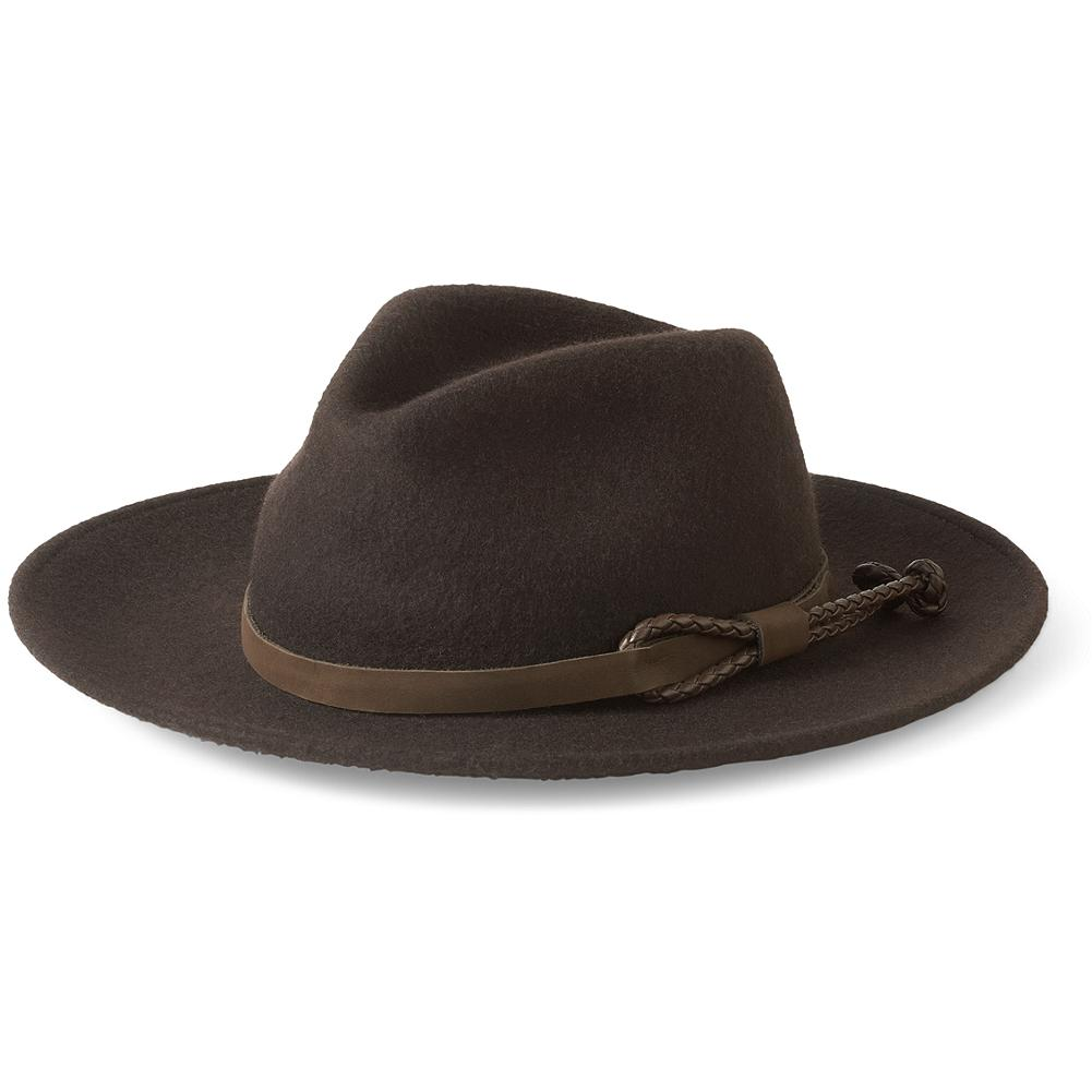 Fitness Eddie Bauer Packable Wool Hat - Roll it, crush it, stuff it in a pocket or suitcase. Just give our wool fedora a shake and it pops right back into shape. Made of pure felted wool and finished with a leather hatband. Imported. - $14.99