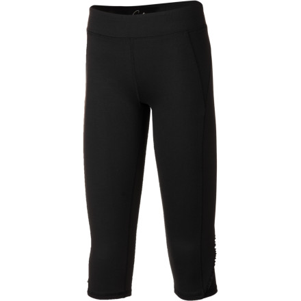 Sweet and stylish, the Gracie Girls' Little Caboose Capri Pant looks like the big girls' sporty capri. And with eco-friendly stretch construction, it will fit and feel like a dream while your little nature-lover runs, rolls, and plays until sundown. - $33.95