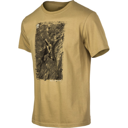 "When you're feeling like you need a shot of inspiration or just a few laughs, pull on the Patagonia Men's FCD Beer Guy T-Shirt. Spun entirely from soft organic cotton, this top features the iconic image of John ""the verm"" Sherman swilling a beer in flip-flops mid-way up a 5.13. T-shirts don't get much better than this. - $35.00"