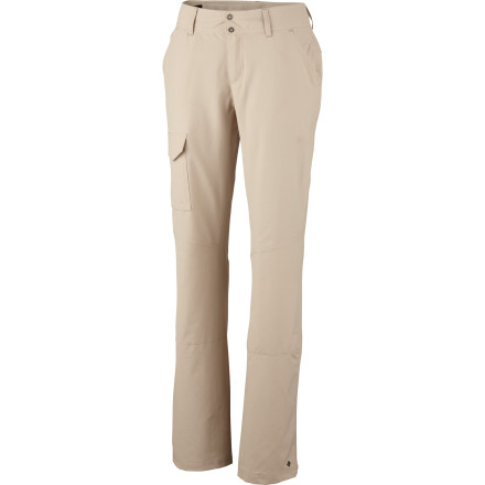 Camp and Hike The lightweight yet burly Columbia Women's Silver Ridge Pant lets you hike high or climb like a lizard in quick-dry, breathable comfort. Its gusset detail gives you tons of sport-oriented mobility, and an interior adjustable waistband always fits, with or without layers. And when the time comes for a stream crossing or you want to go shorter, the legs roll up to convert to a capri for ultimate on-the-fly versatility. - $41.21
