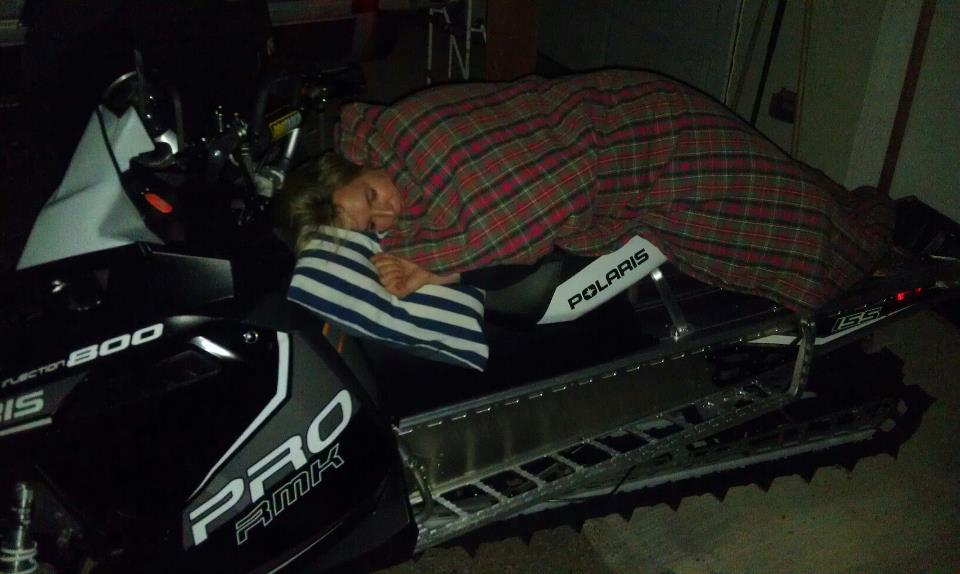 Snowmobile Picked up my 2013 PRO-RMK 155 on Friday... couldn't bear to be separated from her already!