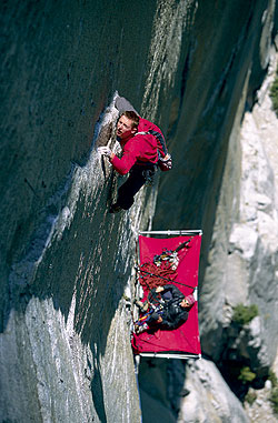 Climbing The Dihedral Wall - Yosemite in early spring, perfect for anything my heart desired. 