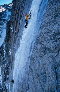 Climbing First Strike - Get a jump on ice season with classic autumn climbs.  Article by Dougald MacDonald
