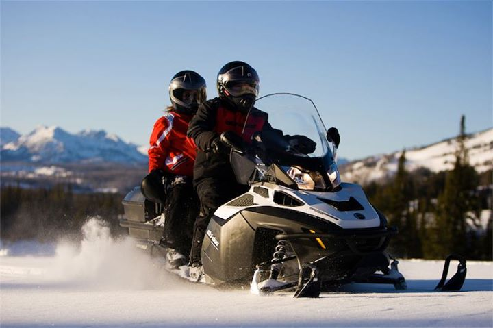 Snowmobile 2014 Expedition touring utility vehicle.  There's nothing like it out there. The SE package, with winch, heated seat, cargo box, tilt steering and more is only available as a Spring Fever order.