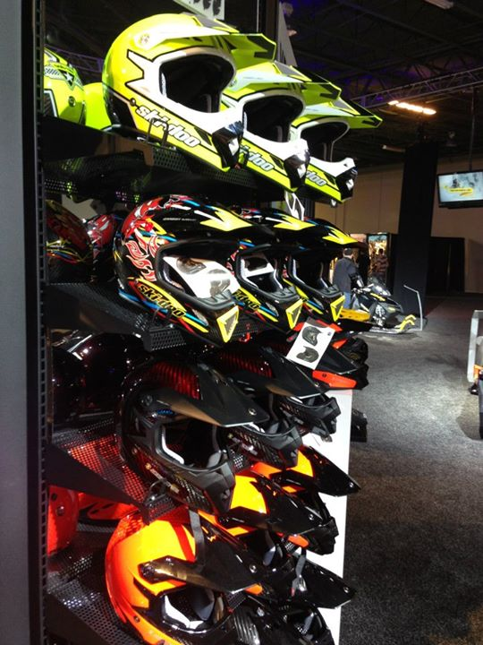 Snowmobile Our ultra lightweight carbon fiber XP-R2 helmet line expands for 2014 with a High Vis yellow and Chili design (based on @Carl Kuster's own race lid).  Available at your dealer this fall.
