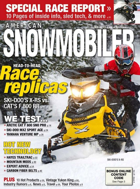 Snowmobile American Snowmobiler Jan 2013