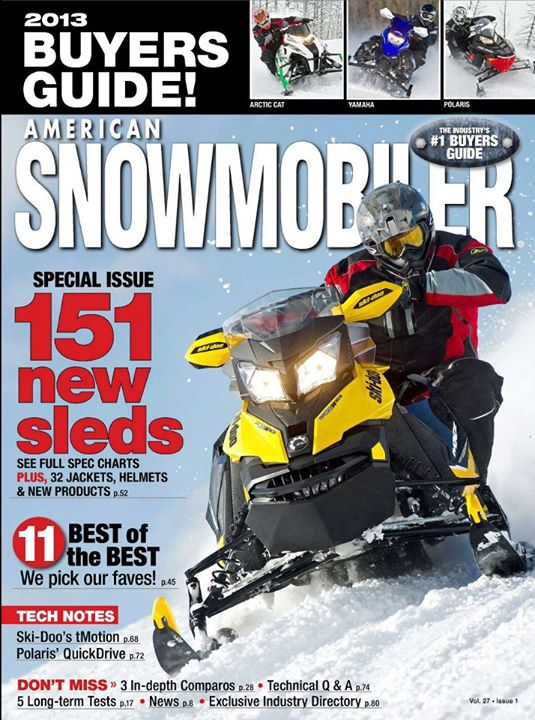 Snowmobile American Snowmobiler magazine: Fall 2012 Buyers Guide