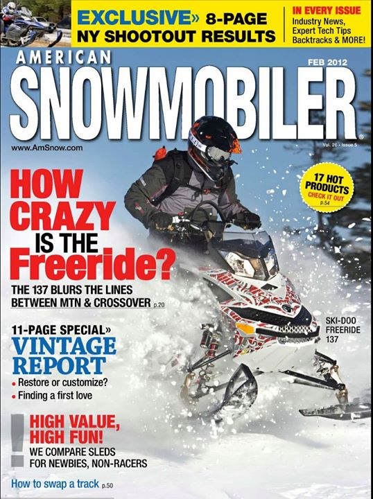 Snowmobile American Snowmobler Feb 2012