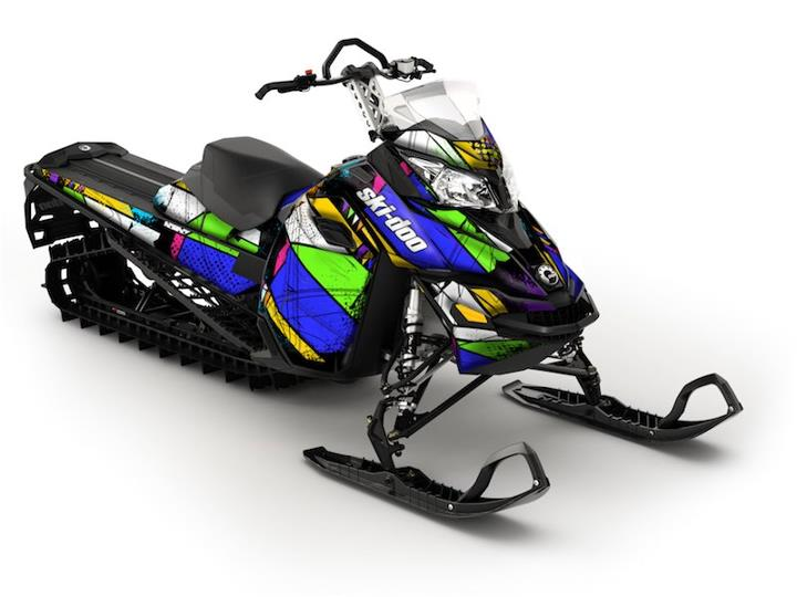 Snowmobile Color Burst wrap from SCS Unlimited