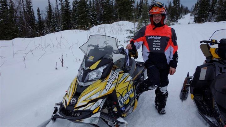 Snowmobile Defending champ Dusty Vanmeter putting his MX Z through its paces in testing.