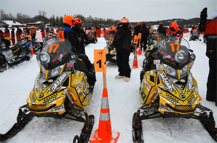 Snowmobile At the start