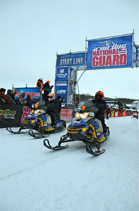Snowmobile Sunday Start for #18 Chad Gueco and Aaron Loyer