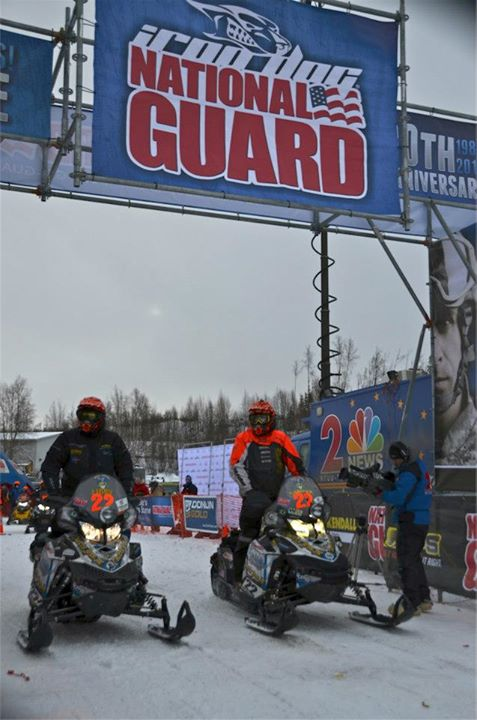 Snowmobile At the start with Robert Gardner and Justin Libby
