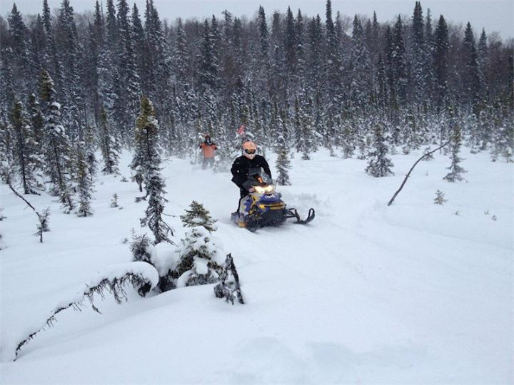 Snowmobile 25 Miles out