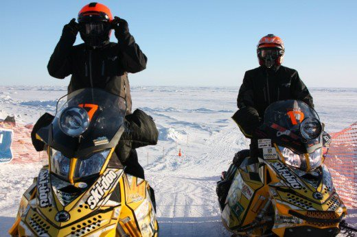 Ski Ski-Doo Racers Dusty VanMeter and Marty McKenna are in first place at the halfway point of the Iron Dog.  For a quick update on the race and how Ski-Doo teams are faring: http://bit.ly/12OBw00