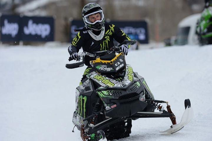 Snowmobile @Heath Frisby in practice