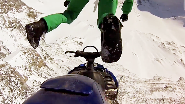 Snowmobile What the hell?   VIDEO:  http://bit.ly/10LYQe2